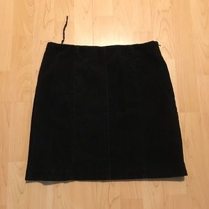 Women's Ralph Lauren Black Corduroy Skirt Size 4